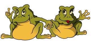 Froschpaare Stockfoto
