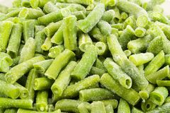 Frosen green beans Stock Photos