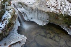 Frosen little stream Stock Photo