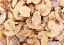 Frosen mushrooms Royalty Free Stock Image
