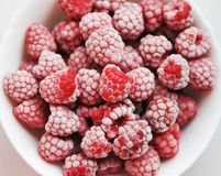 Frosen raspberries Royalty Free Stock Photo