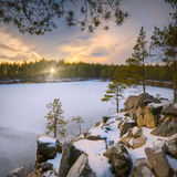 Frosen winter lake Royalty Free Stock Photo