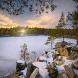 Frosen winter lake Royalty Free Stock Photo