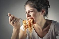 Frosseri av pasta royaltyfri bild