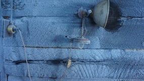 Frost на двери Стоковые Изображения RF