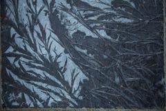 Frost на голубых flagstones Стоковое фото RF