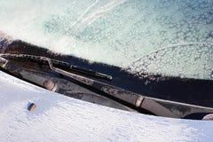 Frost на лобовом стекле автомобиля Стоковая Фотография