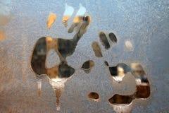 Frost на окне Стоковое Изображение