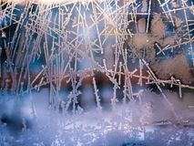 Frost abstract background. Stock Photo