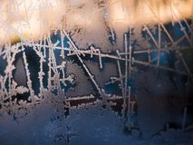 Frost abstract background. Frost abstract background in cold winted day stock illustration