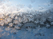 Frost auf dem Fenster Lizenzfreie Stockbilder