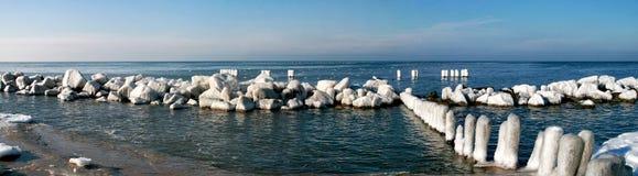 Frost auf dem Strand Stockfotos