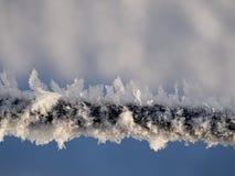 Frost auf dem Zaun Lizenzfreies Stockfoto