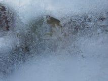 Frost auf einer Fensterscheibe Stockbilder