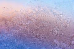 Frost auf Glas Stockfoto