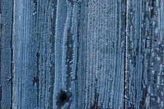 Frost auf Holz Lizenzfreie Stockbilder