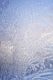 Frost background. Frosted window background winter texture stock photo