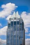 Frost Building, Austin Texas. Frost building set against a cloudy sky; Austin, Texas Stock Images