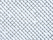 Frost on chain link fence Royalty Free Stock Photo