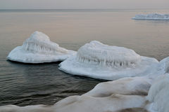 Frost at the coast of the Baltic Sea. Winter landscape Royalty Free Stock Photography