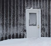 Frost covered door Stock Images