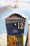 Frost Covered Ornamental Post Box Royalty Free Stock Images