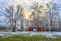 Frost cubrió la yarda Foto de archivo libre de regalías