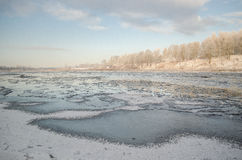 Frost dans Kuldiga Image stock