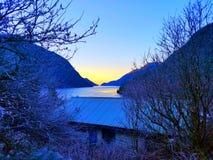 Frost dans le bleu photographie stock libre de droits