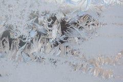 Frost Design on Window Stock Photos