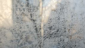 Frost draws on glass patterns stock video footage