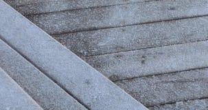 Frost em placas de madeira vídeos de arquivo