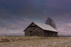 Frost en los campos Foto de archivo