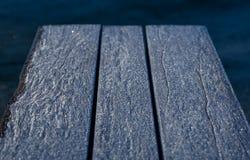 Frost en una tabla Foto de archivo libre de regalías