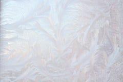Frost en ventana del invierno Fotografía de archivo