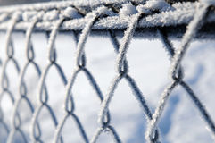 Frost on a fence Stock Photos