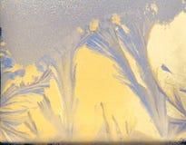 Frost-Fenster Stockbild
