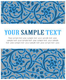 Frost floral pattern. In blue Royalty Free Stock Photography