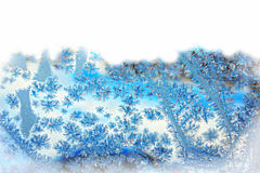 Frost Flowers Background, Greeting card. Frost flowers background with a copy space for your text. Winter scene Royalty Free Stock Photo