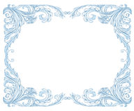 Frost frame. Classic style, like frost on the window Stock Photo