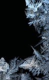 Frost frame on black. Frost work on black background Royalty Free Stock Photo