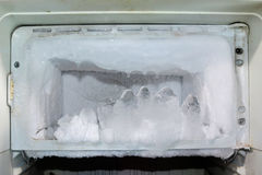Frost in the fridge. Stock Photography