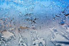 Frost  frozen  ice  window Royalty Free Stock Photography