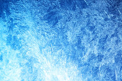 Frost on glass Royalty Free Stock Photography