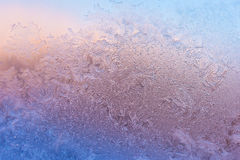 Frost on glass Stock Photo