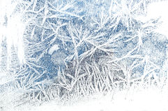 Frost on glass. Ice Texture. Frosty pattern on the window Stock Images