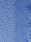 Frost ice crystal on window Royalty Free Stock Images