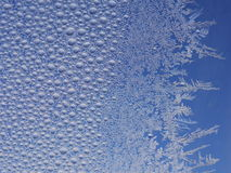 Frost ice crystal on window Royalty Free Stock Photography