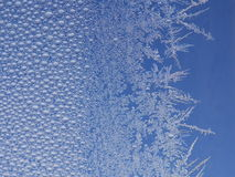 Frost ice crystal on window Royalty Free Stock Photos