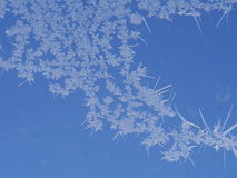 Frost ice crystal on window Stock Photo